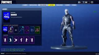 OG SKULL TROOPER + REAPER SCYTHE PICKAXE ACCOUNT FOR TRADE FORTNITE!