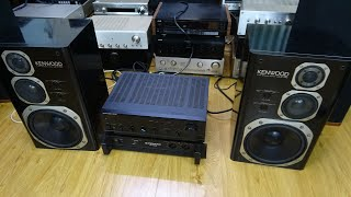 TEST DÀN AUDIO MỸ NHẬT BÌNH DÂN LOA KENWOOD X700,AMPLI HARMAN KARDON HK 6500