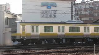 E231系ミツB25編成入場―構内移動 長野総合車両センター
