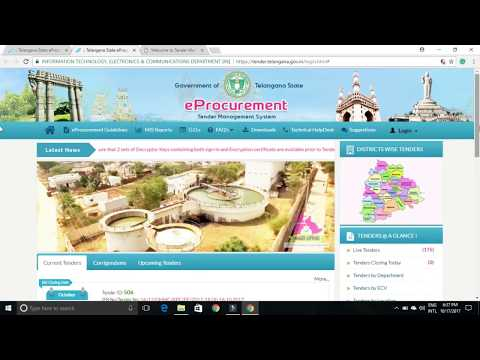 How to Open New E-Tenders in TS Eprocurement Online