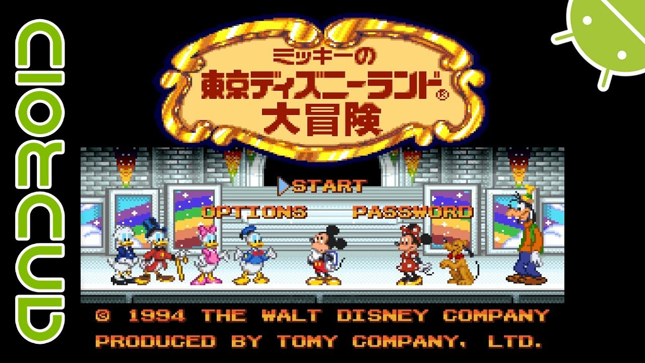 Mickey no Tokyo Disneyland Daiboken (JPN) | NVIDIA SHIELD Android TV |  RetroArch Super Famicom