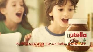 Nutella ile her sabah mutluluğa uyandığınız bir yıl dileğiyle!