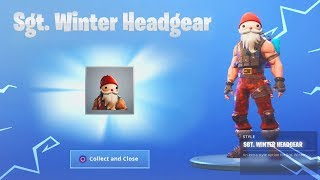 How To Unlock New 'SGT. WINTER HEADGEAR' Fortnite Christmas Upgrades! (Fortnite Battle Royale)