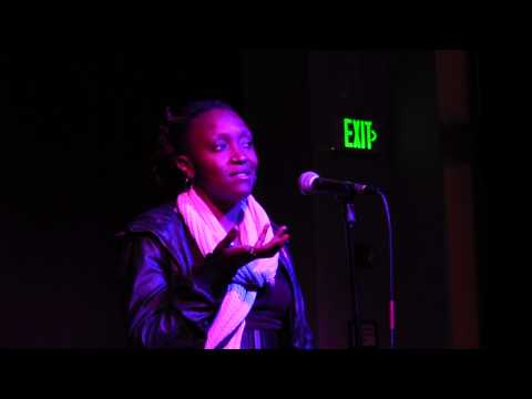 Lisa Evans at the Oakland Poetry Slam