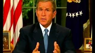 9/11: George W. Bush addresses the nation following the 9/11 attacks