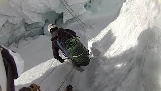 Khumbu Iceall Ladder Crossing 2015 Everest Expedition Video 3