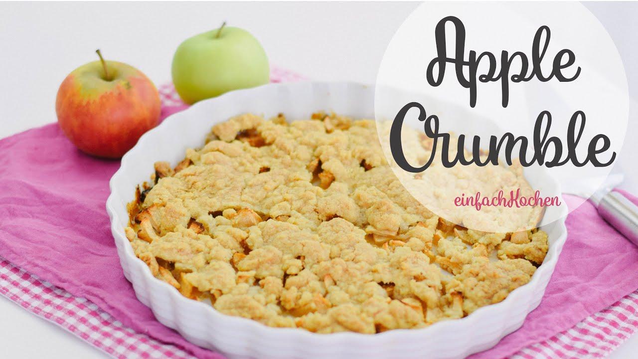 Super Schneller Veganer Apfelkuchen Apple Crumble Von