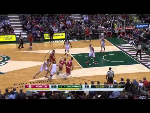 Houston Rockets vs Milwaukee Bucks | February 8, 2014 | NBA 2013-14 Season