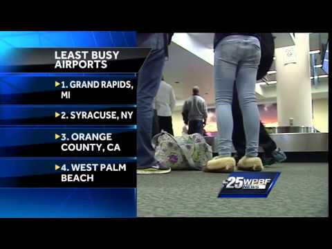Palm Beach international Airport ranks as one of nation's 'least busiest' airports