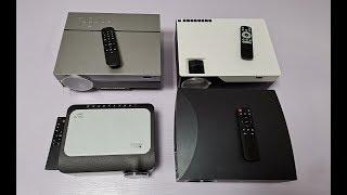 1080P Projectors  L6 T26K F30 M18 Appearance, color, brightness comparative 1920*1080P