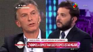 """Mauricio Macri aniquiló a Brancatelli en Intratables : """"Este gobierno es el peor de todos""""."""