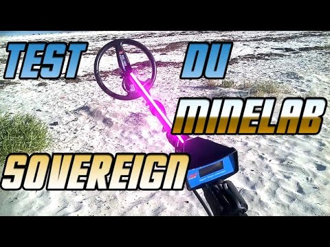 Test de profondeur Minelab sovereign sable sec - Youdig