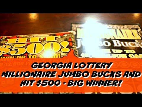 Big Winner Georgia Lottery Millionaire Jumbo Bucks Hit $500 Lottery Tickets