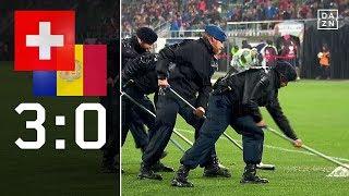 Schweiz bezwingt Andorra in Wasserschlacht: Schweiz - Andorra 3:0 | Highlights | WM-Quali | DAZN