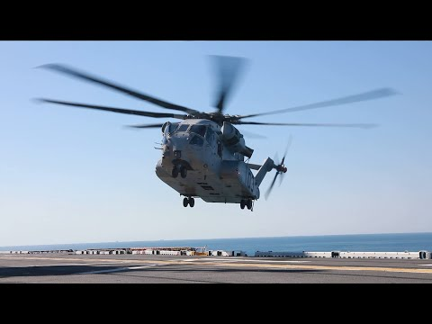 CH-53K King Stallion Stretches its Legs at Sea