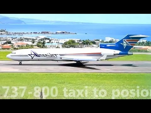 Amerijet 727-200F and Others @ St Kitts (1080p)