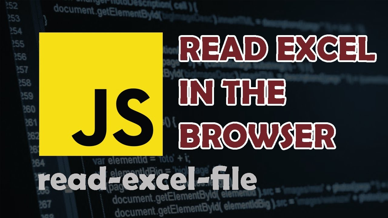 How to read Excel in the Browser with Javascript