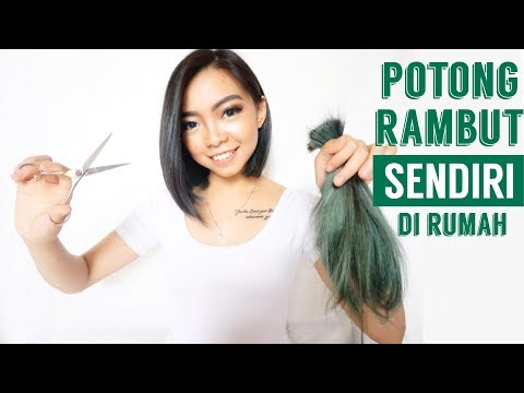 NEKAT!!! POTONG RAMBUT PENDEK SENDIRI DIRUMAH | How to Cut Your Own Hair at Home