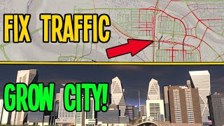 BIG BRAIN Traffic Fix Grows City to 200K in Cities Skylines!!