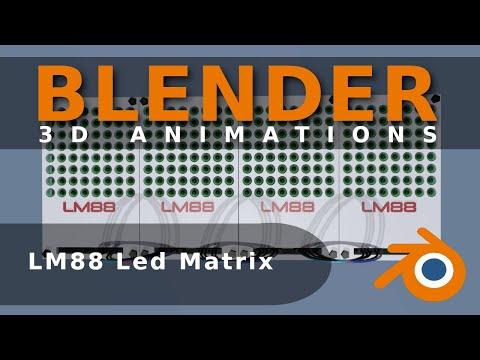 LM88 Led Matrix f�r mikrocontroller (Animation)