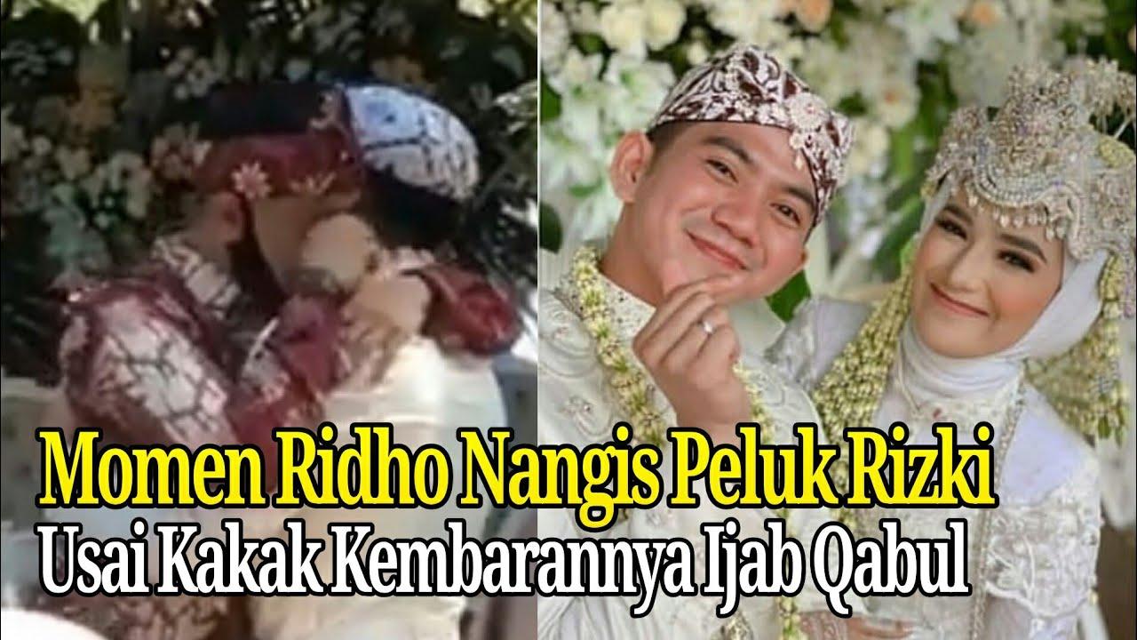 Momen Ridho M3nang1s P3luk Rizki di Hari Pernikahan Rizki dan Nadya Mustika Rahayu