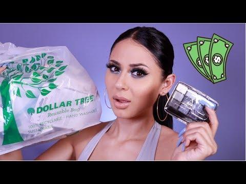 DOLLAR TREE MAKEUP CHALLENGE !