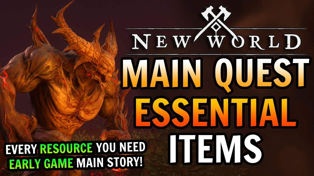Download New World Early Game Main Quest ESSENTIALS - Everything You Need For Main Quests Early Game!