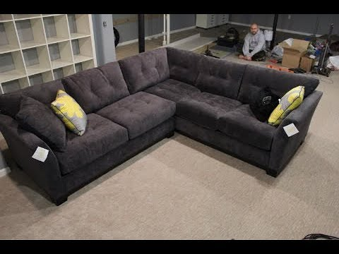 Dark Grey Sectional Sofa Youtube