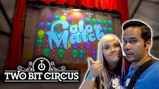 Fancy new carnival games and virtual reality arcade! Two Bit Circus