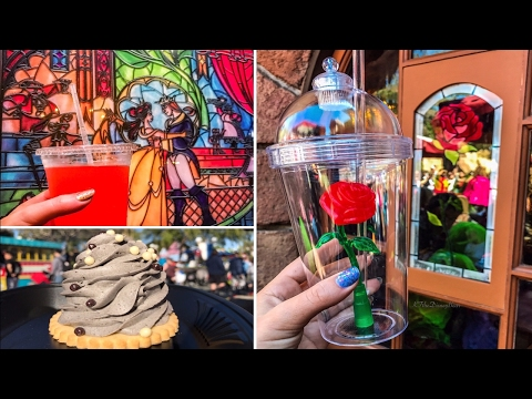 "Disneyland Red Rose Taverne & The Secret Menu Drink! Inspired by ""Beauty and the Beast"""
