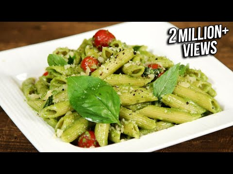 how-to-make-pesto-pasta-|-penne-pasta-with-pesto-sauce-|-the-bombay-chef---varun-inamdar