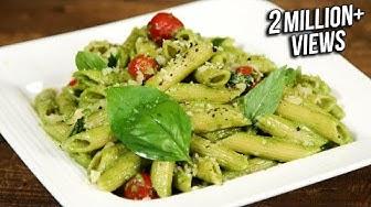 How To Make Pesto Pasta |  Penne Pasta With Pesto Sauce  | The Bombay Chef - Varun Inamdar