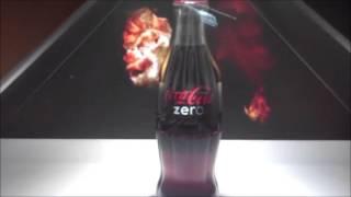 realfiction hd3 showcasing 3d hologram for coca cola