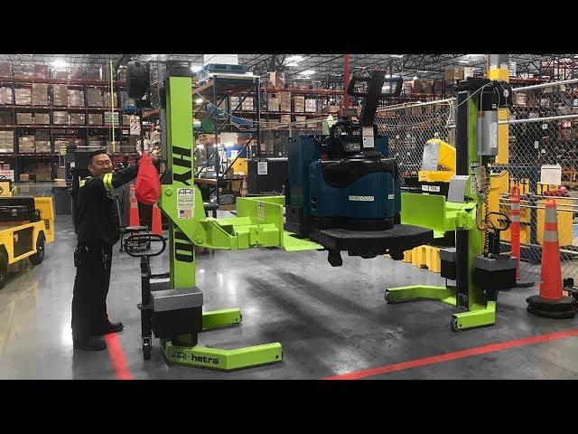ARI-HETRA Forklift Adapter In-Use at Kroger Distribution Facility in Las Vegas, NV