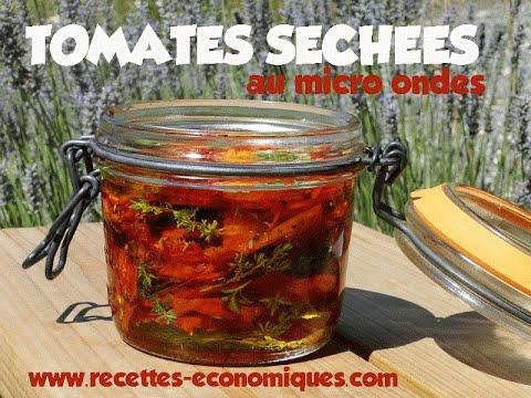 recette des tomates sech es au micro ondes youtube. Black Bedroom Furniture Sets. Home Design Ideas