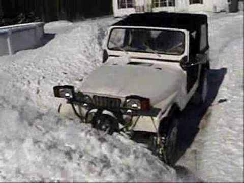Plow For Jeep Wrangler >> Jeep CJ Plowing Snow 6 - YouTube