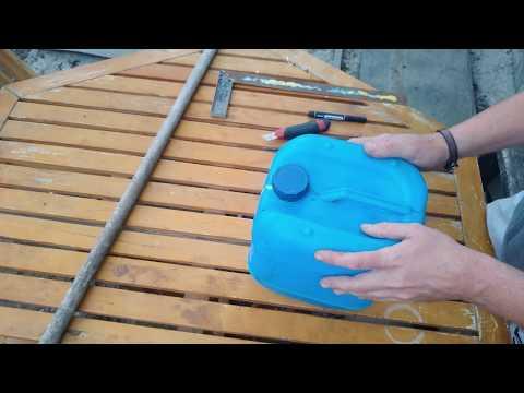 Как сделать совок из пластиковой канистры