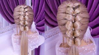 Прически.Красивая Прическа.Обучающее видео. Beautiful Hairstyle