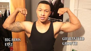 HOW TO GET BIG ARMS AND NOT GET SORE (MUST WATCH!!)