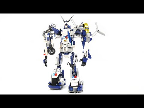 """like LEGO"" Qman 1407 1 into 6 robot"