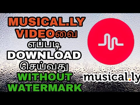 How To Download Musical.ly Videos Without Watermark In Tamil @OMG TAMILAN