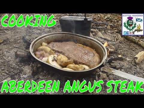 Bushcraft Cooking Campfire Cooking Aberdeen Angus Steak Scottish Beef