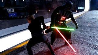 Star Wars: Battlefront Darth Vader vs Luke Rematch! Join The Dark Side