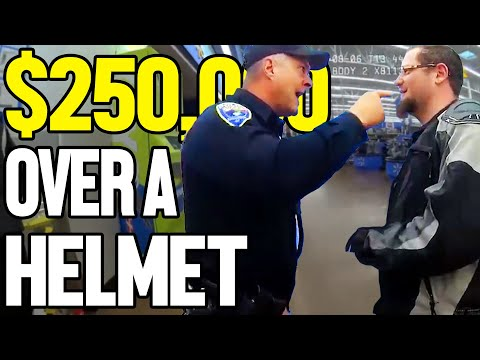 ARRESTED FOR WEARING A HELMET IN PUBILC - $250,000 SETTLEMENT REJECTED