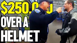 ARRESTED FOR WEARING A HELMET IN PUBLIC  $250,000 SETTLEMENT REJECTED