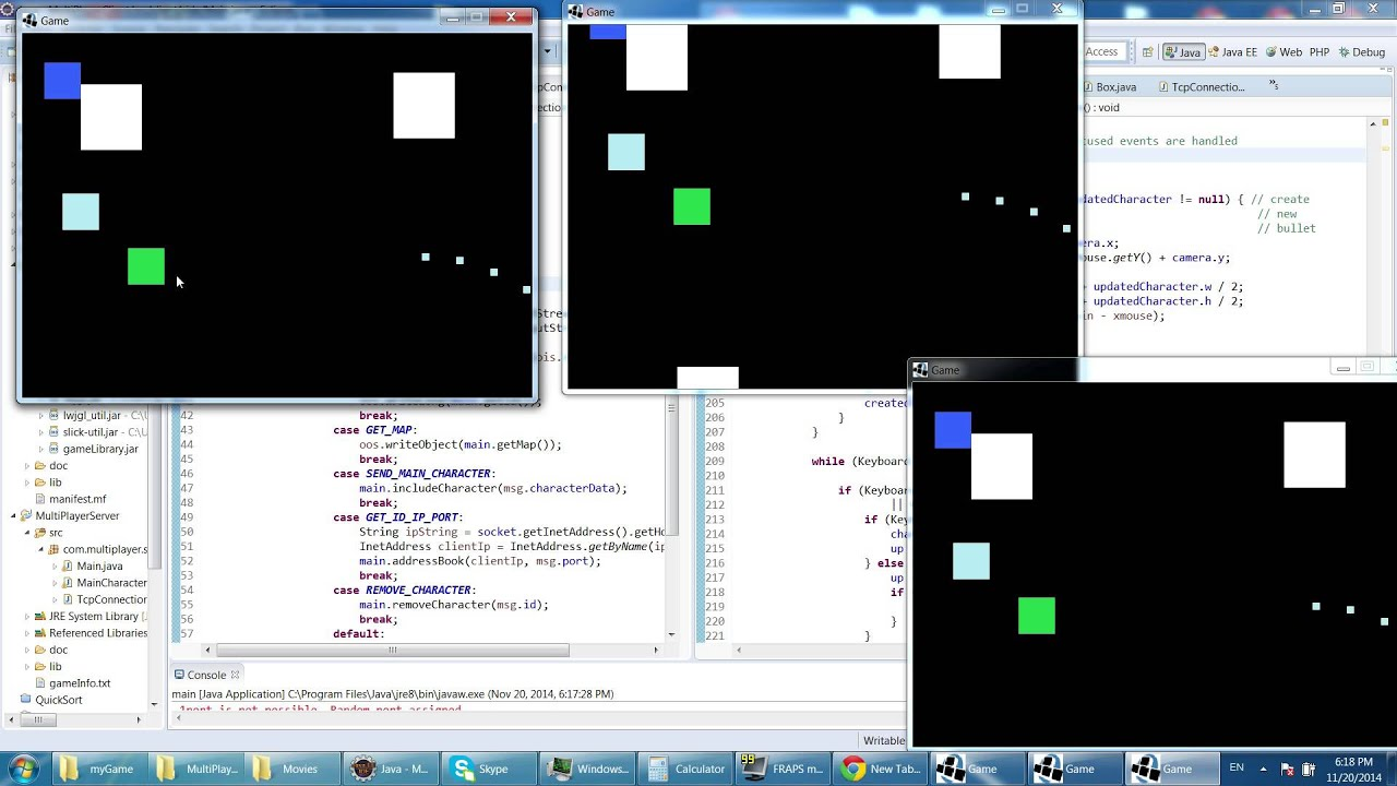 Online multiplayer game Java - YouTube
