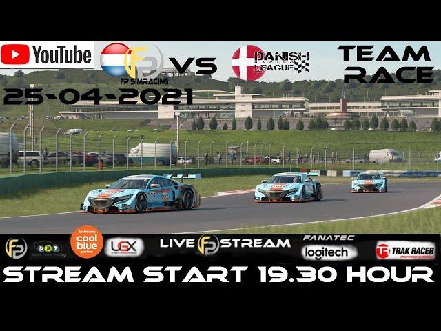 Livestream FP SimRacing Team Challenge vs DRL Danish Racing League