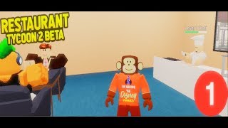 🐒MR MONKEY BECOMES A COOK ONCE AGAIN!😱 | Restaurant Tycoon 2 (Roblox) {#1}