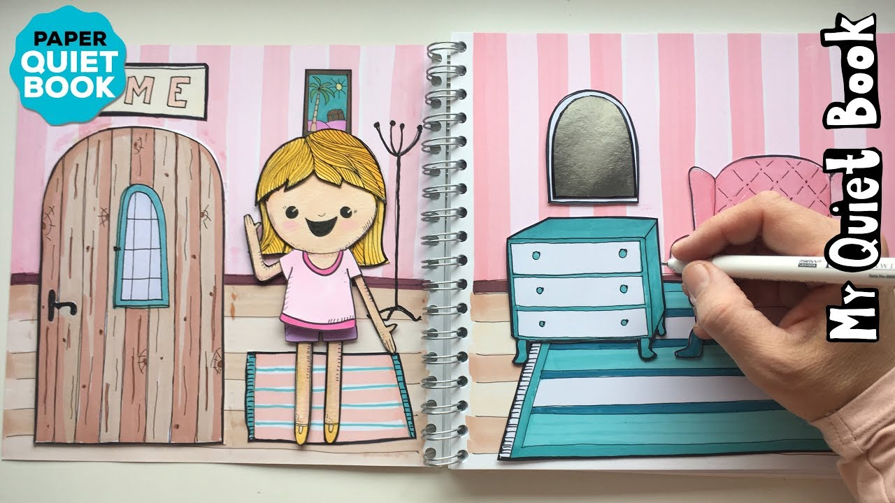Homemade Paper Dollhouse Quiet Book How To Draw Furniture
