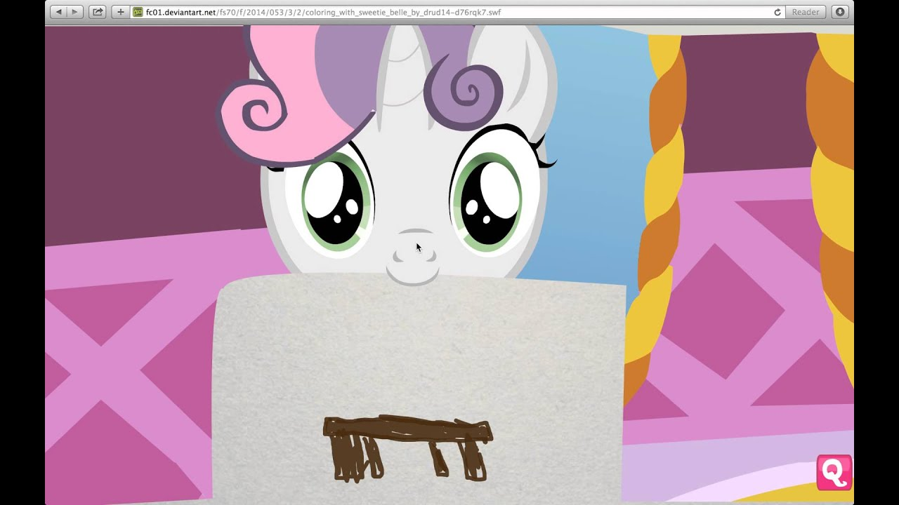 Coloring with Sweetie Belle  YouTube